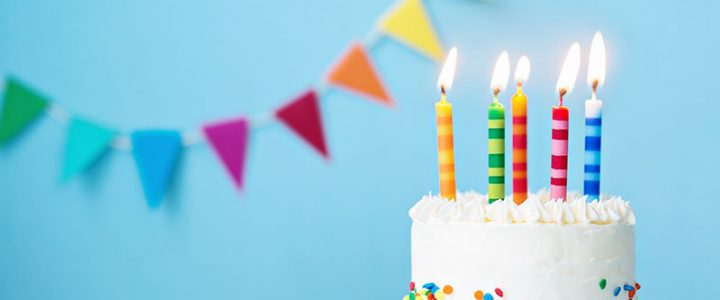 When was introduced the first birthday cake and by whom?